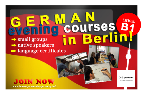 B1 German Evening courses Berlin